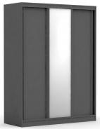 Třídveřová šatní skříň REA Atlanta 2 - graphite