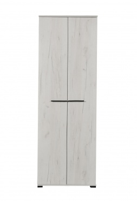 Šatní skříň Eman 2D - dub bílý/eben