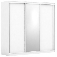 Třídveřová šatní skříň REA Atlanta 3 - bílá