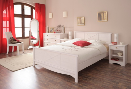 Studentská postel Marion 140x200cm - transparentně bílá