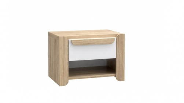 Noční stolek Nikki - dub sonoma/bílá