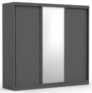 Třídveřová šatní skříň REA Atlanta 3 - graphite