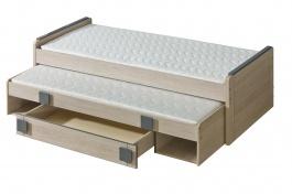 Dětská postel 80x200cm s přistýlkou i úložným prostorem Loki - dub santana/popel