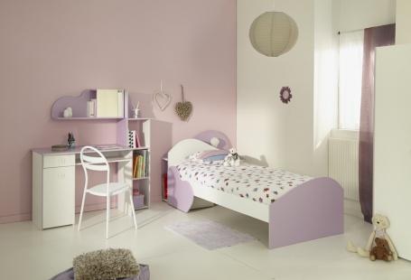 Dívčí pokoj Mili - bílá/fialová