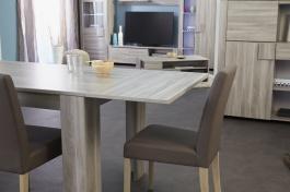 Přídavná deska k jídelnímu stolu Louisa - dub  flinstone