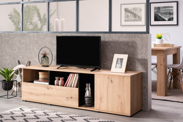 Televizní stolek Dustin - dub artisan/černá