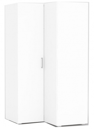 Rohová šatní skříň REA Venezia 5 - bílá