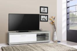 Televizní stolek s osvětlením Ronja 180cm  - beton/bílý