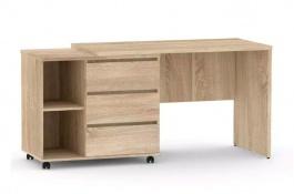 Psací stůl s otočným kont. REA Roy, L/P - dub bardolino