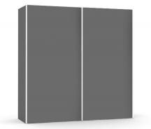 Velká šatní skřín REA Houston up 2 - graphite