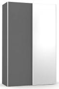 Šatní skřín se zrcadlem REA Houston 4 - graphite