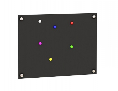 Magnetická tabule Trendy - černá