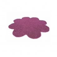 Koberec Color Shaggy - švestka - kytka