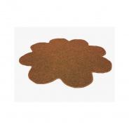 Koberec Color Shaggy - světle hnědá - kytka