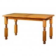 Jídelní selský rustikální stůl z masivního dřeva MES 01 B - 100x200cm - výběr moření