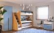 Vyvýšená postel Trendy 90x200cm - na fotce je pravá varianta postele