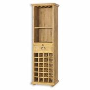 Regál z masivního dřeva na víno a sklenice VIT 14 - výběr moření