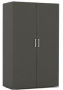 Dvoudveřová šatní skříň REA Catania 2 - graphite