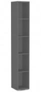 Úzký regál REA Store 30x200cm - graphite