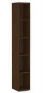 Úzký regál REA Store 30x200cm - wenge