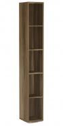 Úzký regál REA Store 30x200cm - ořech rockpile