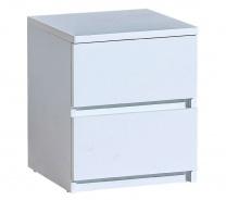 Zásuvkový noční stolek Liana - bílá