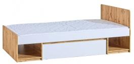 Dětská postel 90x195cm se zásuvkou Liana - bílá/dub wotan