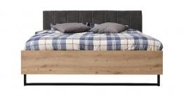 Manželská postel Nathan 180x200cm - dub artisan/černá