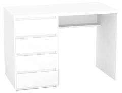 Psací stůl REA Play 2, levý - bílá