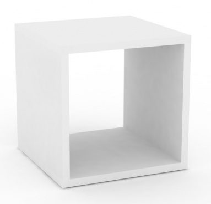 Multifunkční stolek REA Block - bílá