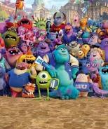 Dětská tapeta na zeď 8-dílná - Monsters University