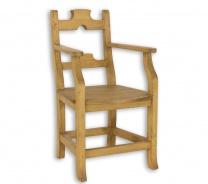 Židle s područkami SIL 12 selská - výběr moření