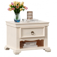 Noční stolek se šuplíkem Annie - dub provence bílá