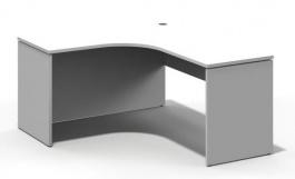 Rohový stůl REA Play - bílá