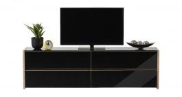 Televizní stolek Embra - dub artisan/černý lesk