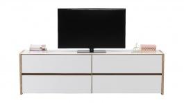 Televizní stolek Embra - dub artisan/bílý lesk