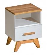 Noční stolek se zásuvkou Olaf - borovice andersen/dub nash