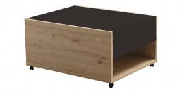 Konferenční stolek Embra - dub artisan/černý lesk