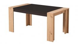 Jídelní stůl Embra - dub artisan/černý lesk