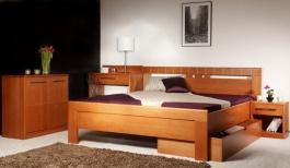 Masivní postel s úložným prostorem Arleta 1 - 160/180 x 200cm - výběr odstínů