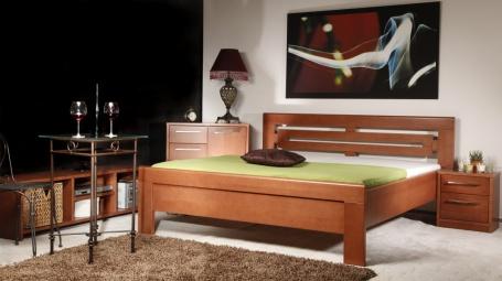 Masivní postel s úložným prostorem Arleta 2