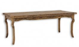 Dřevěný stůl 90x160 rustikální  LUD 01-výběr moření