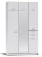 Šatní skříň REA 700 s nástavcem - bílá