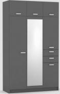 Šatní skříň REA 700 s nástavcem - graphite