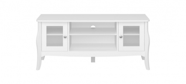 Televizní stolek Baroko - bílý