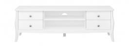 Televizní stolek se šuplíky Baroko - bílý
