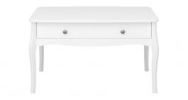 Konferenční stolek se šuplíkem Baroko - bílý