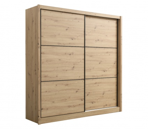 Šatní skříň s posuvnými dveřmi Debby 215 - dub artisan