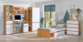 Studentský pokoj Liana I - bílá/dub wotan