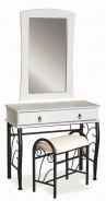 Toaletní stolek 1102 se zrcadlem bílá/černá